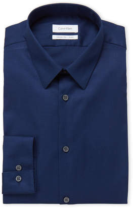 Calvin Klein Medieval Blue Extreme Slim Fit Stretch Dress Shirt