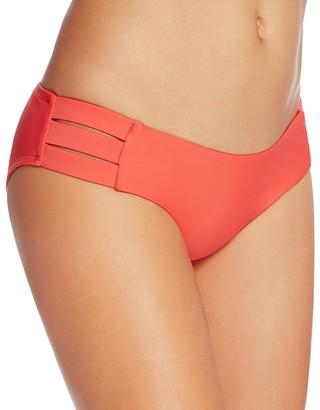 Vitamin A Emelia Coral Triple Strap Bikini Bottom $99 thestylecure.com