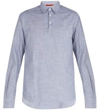 Barena Venezia - Point Collar Cotton Shirt - Mens - Light Blue