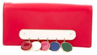 Edie Parker Embellished Leather Clutch
