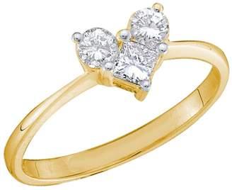 Cosanuova - Princess Diamond Heart Ring in 14kt Yellow Gold (.50ct)