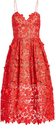 Self-Portrait Azaelea 3D Lace Fit & Flare Dress