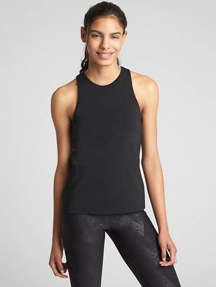 Gap GapFit High-Neck Strappy Mesh-Back Shelf Tank Top