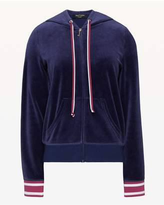 Juicy Couture Stacked Juicy & Flowers Velour Robertson Jacket