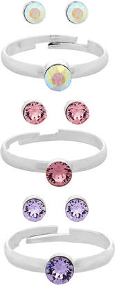 Monsoon 3x Ring & Earring Set with Swarovski Crystals