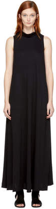 Raquel Allegra Black Long Turtleneck Dress
