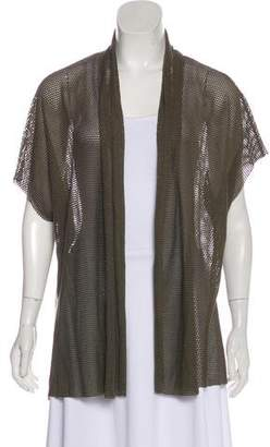 L'Agence Mesh Open Front Cardigan
