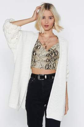Nasty Gal Knit Happens to the Best of Us Bobble Cardigan