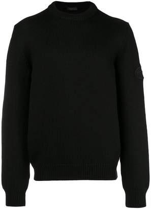 Prada chunky knit logo sweater