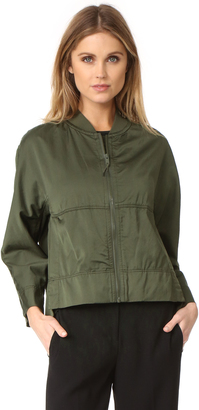 DKNY Cropped Bomber Jacket $398 thestylecure.com