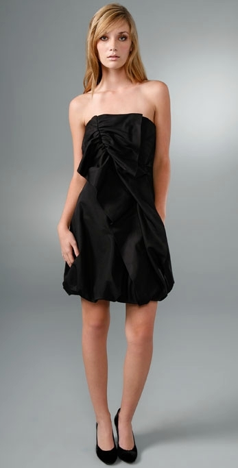 Shoshanna Asymmetrical Strapless Dress