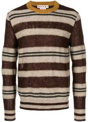 Marni colour-block striped sweater