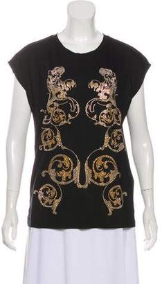 Versace Accented Short Sleeve Top w/ Tags