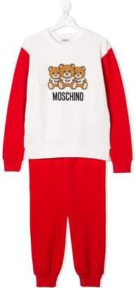 Moschino Kids TEEN Teddy logo print tracksuit