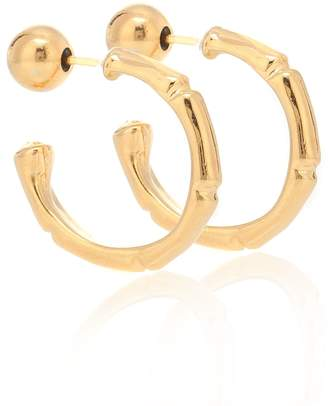 Sophie Buhai Thin Bamboo 18kt Gold Plated Hoop Earrings