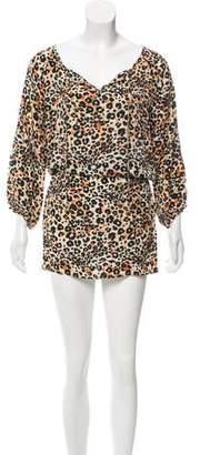Tolani Animal Print Mini Dress