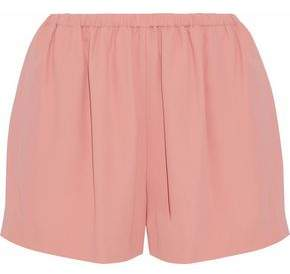 RED Valentino Gathered Crepe Shorts