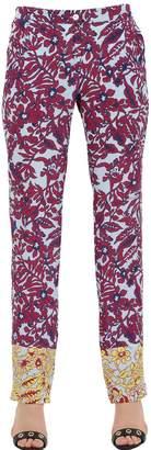 Monocrom Floral Printed Silk Pants