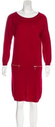 Neiman Marcus Cashmere Knee-Length Dress