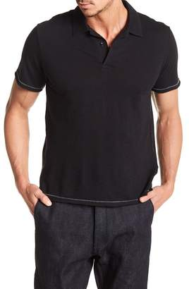 Rag & Bone Owen Topstitch Short Sleeve Polo