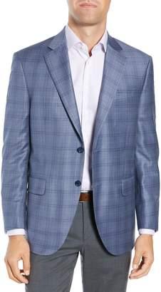 Peter Millar Flynn Classic Fit Deco Plaid Wool Sport Coat