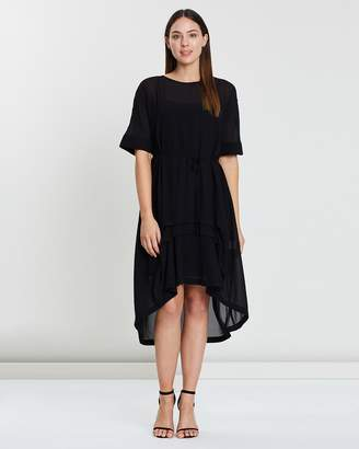 Front Tuck Dress Two-Piece Dress