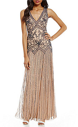 Pisarro Nights V-Neck Sleeveless Beaded Gown $228 thestylecure.com