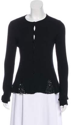 Valentino Embellished Knit Cardigan