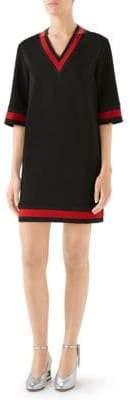 Gucci Women's Long V-Neck Jersey - Black - Size Medium
