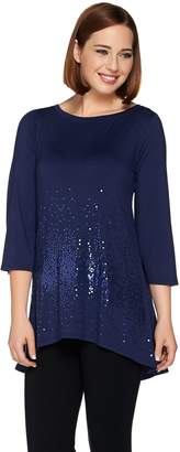 Belle By Kim Gravel Belle by Kim Gravel Sequin Tunic with High Low Hem