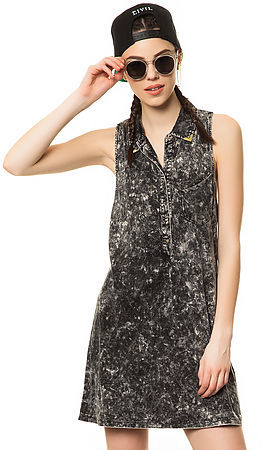 Volcom The Show Your Tips Dress in Black