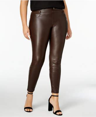 Hue Women's Plus Size Faux Leatherette Leggings