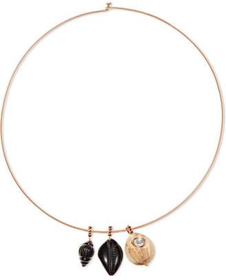Dezso by Sara Beltrán - 18-karat Rose Gold Multi-stone Choker