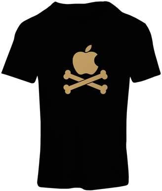 lepni.me T shirts for women Funny apple and Crossbones - Danger symbol, Funny, Humor, Parody design
