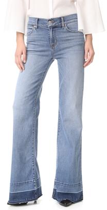 Hudson Dani Wide Leg Released Hem Jeans $225 thestylecure.com