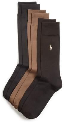 Polo Ralph Lauren Solid Dress Socks, Pack of 3