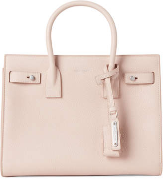 Saint Laurent Marble Pink Baby Sac De Jour Leather Tote