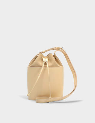 A.P.C. Clara Bag in Beige Naturel Shiny and Nubuck Leathers