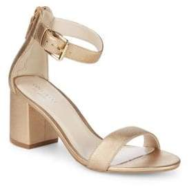Cole Haan Metallic Block Heel Sandals