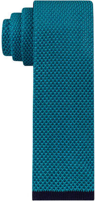 Tommy Hilfiger Men's Knit Solid with Contrast Tip Skinny Tie $65 thestylecure.com