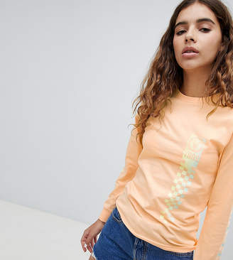 Vans Exclusive Oversized Peach Circle V Long Sleeve T-Shirt