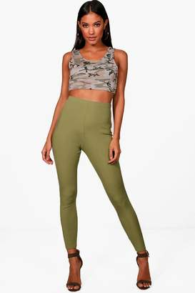 boohoo High Waist Ribbed Leggings