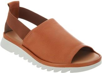 The Flexx Leather Peep Toe Sandals - Shoreline
