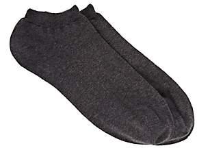 Barneys New York Men's Rib-Knit Ankle Socks - Gray