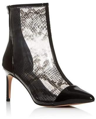 Kurt Geiger Women's Clear Snake-Print High-Heel Booties
