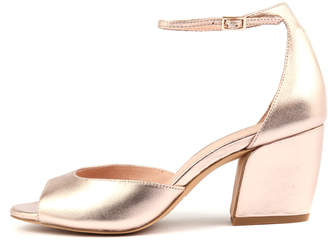 Django & Juliette Prima Rose gold Sandals Womens Shoes Casual Heeled Sandals