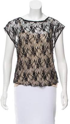 Alice + Olivia Sequined Lace Top