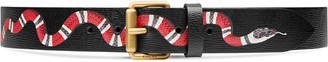 Leather belt with snake $370 thestylecure.com