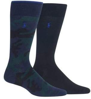 Polo Ralph Lauren Two-Pack Camouflage Crew Socks