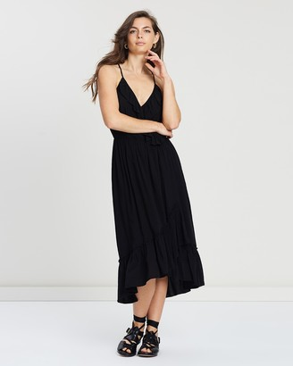 Maison Scotch Overlap Spaghetti Strap Dress
